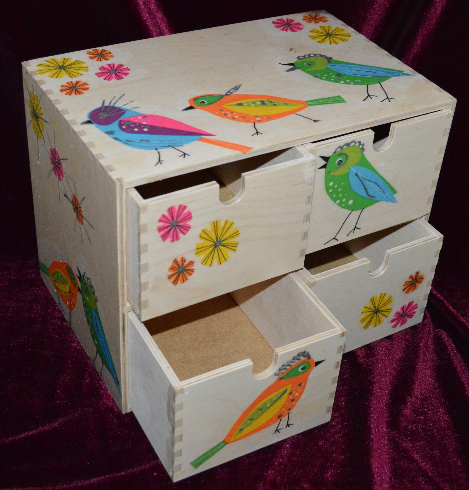 Agni S Art Space Decoupage Mini Chest Of Drawers And