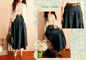 Rok Panjang Jeans