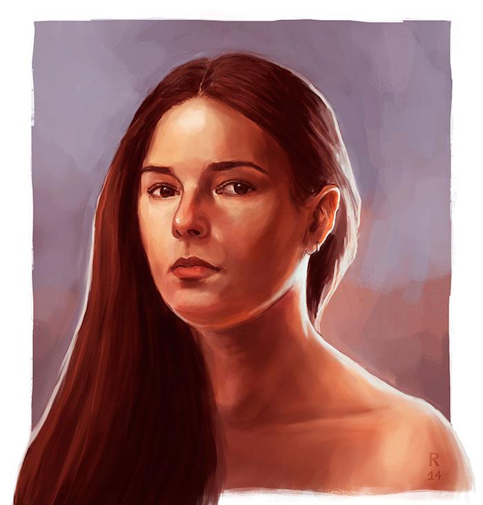 Ilustración, Autoretrato de Rocío Rodríguez