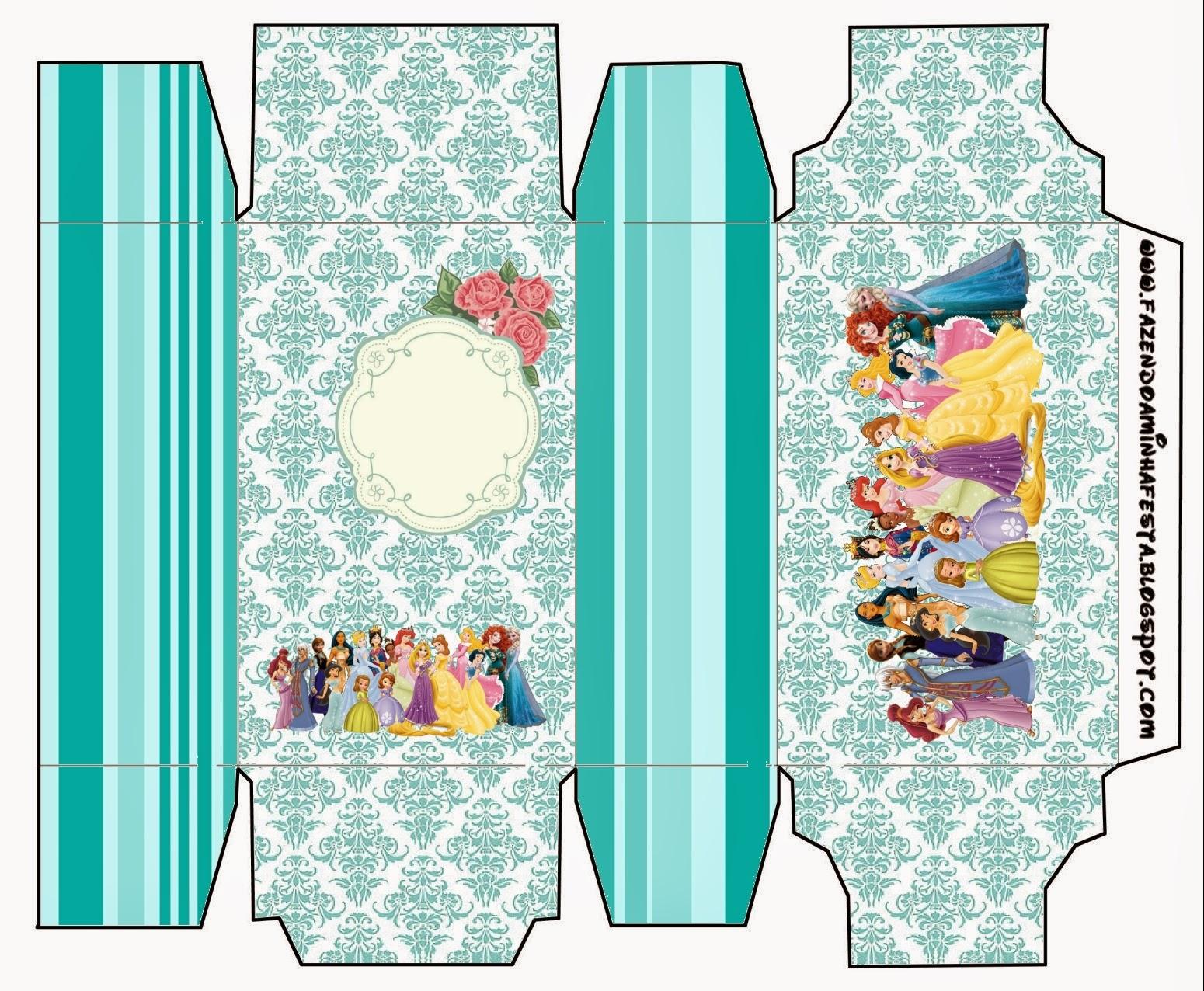 Cajas de Todas las Princesa Disney para imprimir gratis.
