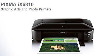 Canon PIXMA iX6810 Driver Software & Setup Downloads