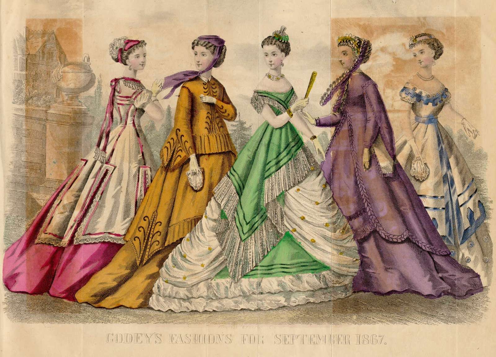 an illustration of society ladies from Gody's magazine