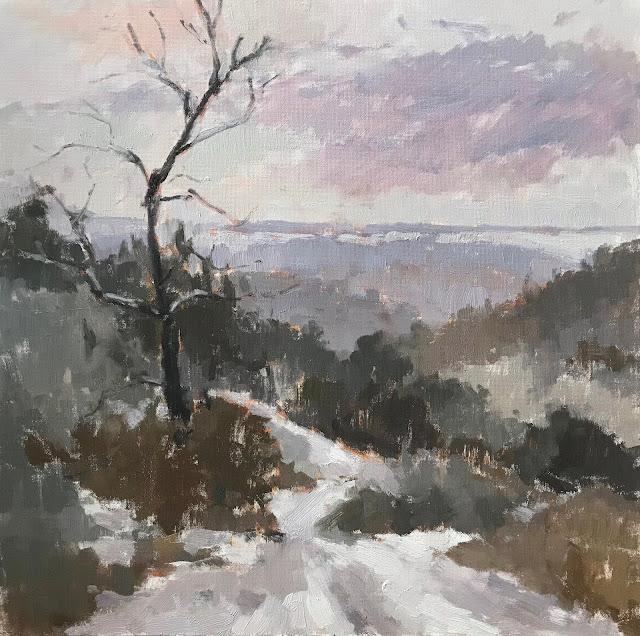 #436 'Snow Pastels' 30x30cm