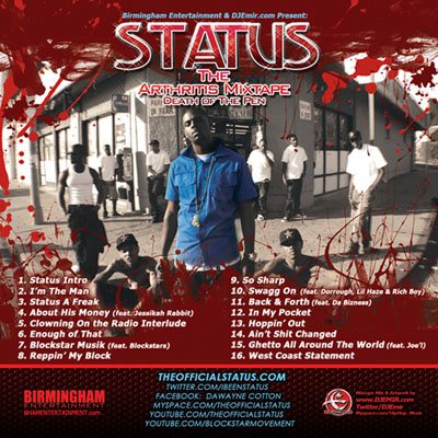 Status The Arthritis Mixtape Cover Design Back