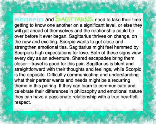 scorpio and sagittarius dating compatibility