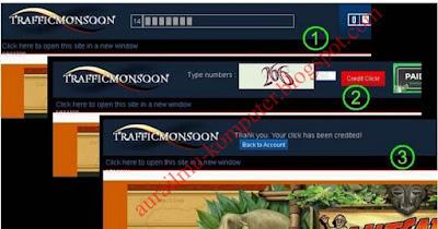 Cara Claim Cash Link TrafficMonsoon