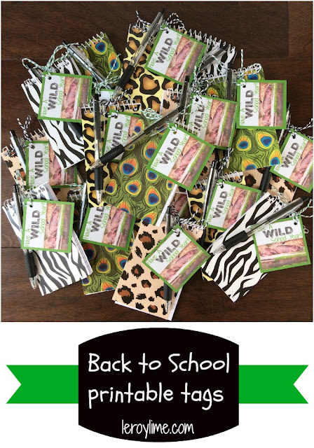 Back to School Printable Tags - Wild School Year - LeroyLime Blog