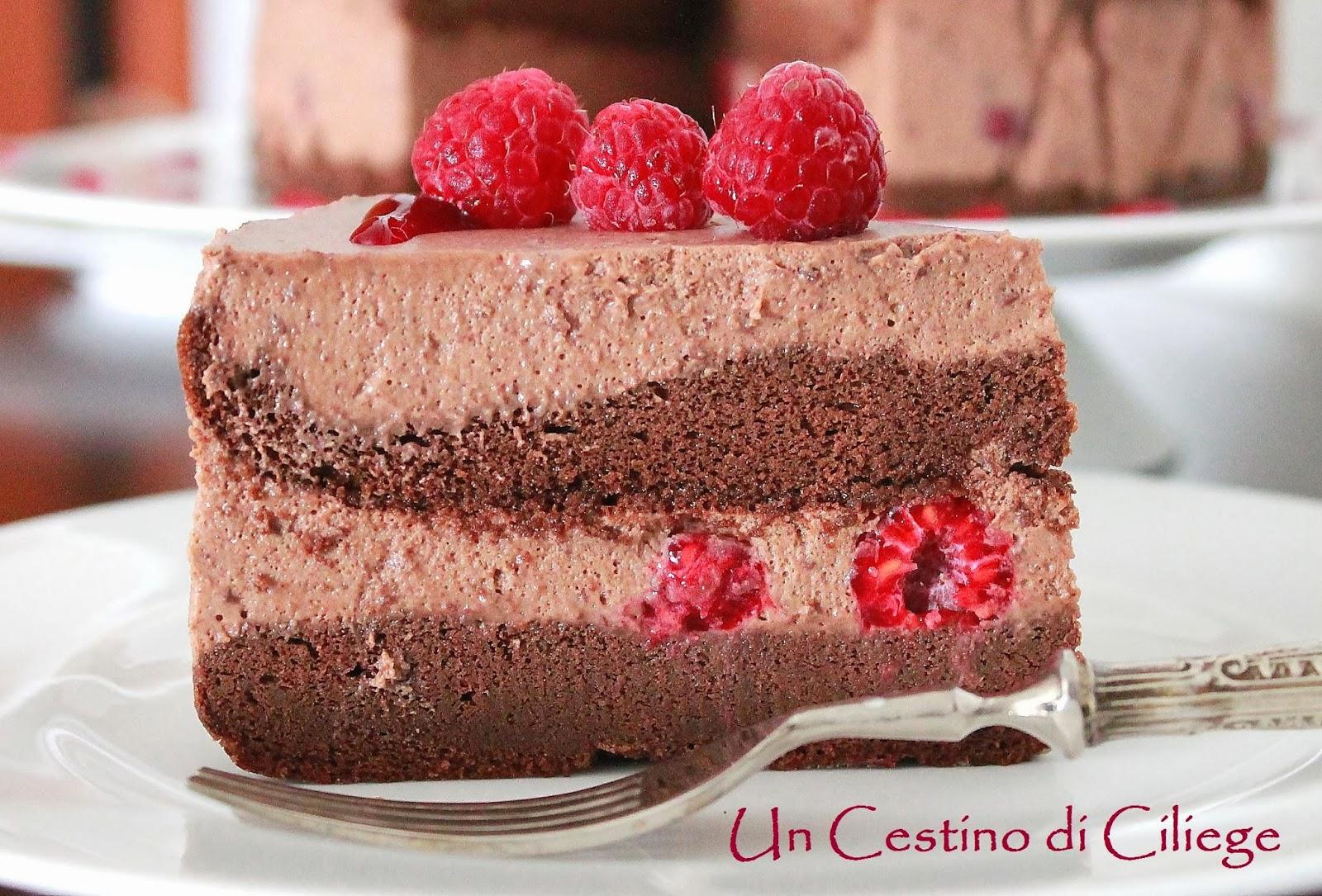 Preferenza Un cestino di ciliege: Torta al Cioccolato Fondente e Lamponi con  NS87