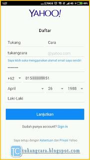 Buat Akun Email Yahoo Lewat HP