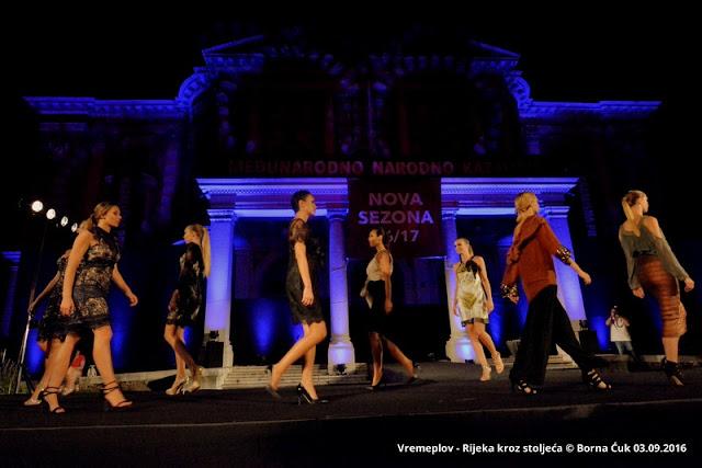 """Modna revija """"Vremeplov - Rijeka kroz stoljeća"""", Rijeka, 03.09.2016 @ HNK, Ivana.pl.Zajca"""