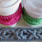 coffee cozy knitting pattern