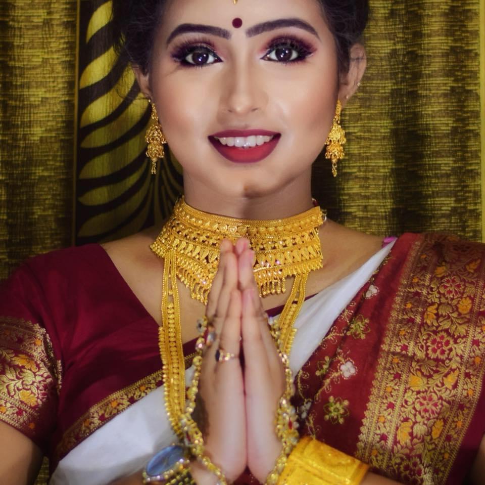 traditional were of Priyanka Sarmacharjee