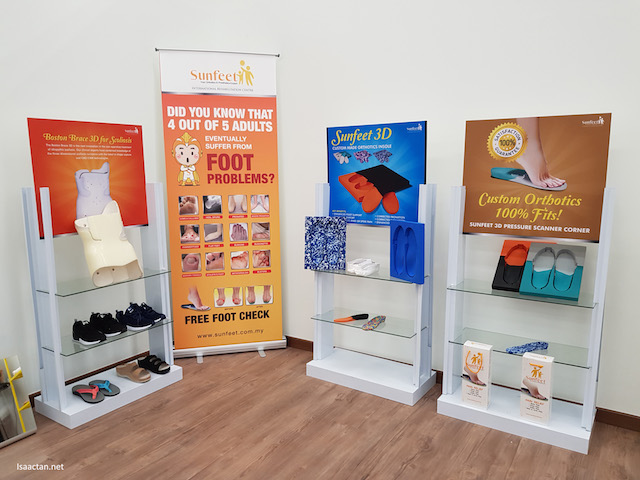 Some of the many products that Sunfeet International Rehab Centre, Petaling Jaya carry