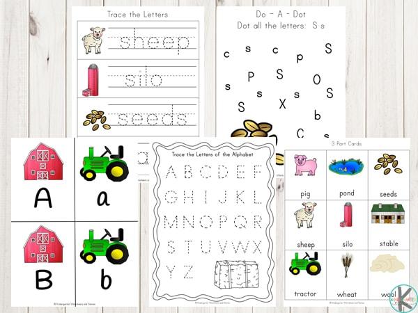 farm-alphabet-worksheets