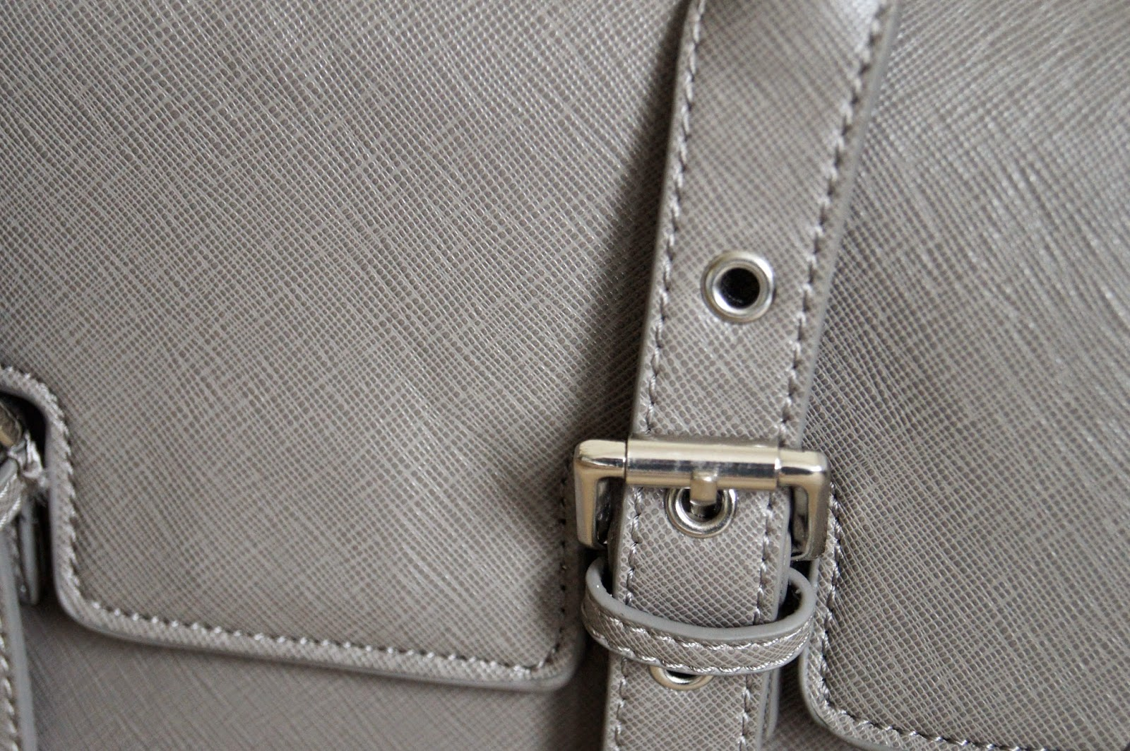 zara buckled mini city handbag taupe grey