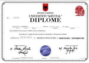Stampare il diploma di laurea