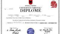 Laurearsi online e stampare il diploma di laurea personale dell'università albanese