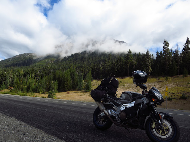 Aprilia Tuono Washington Cascade Mountains