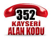 0352 Kayseri telefon alan kodu