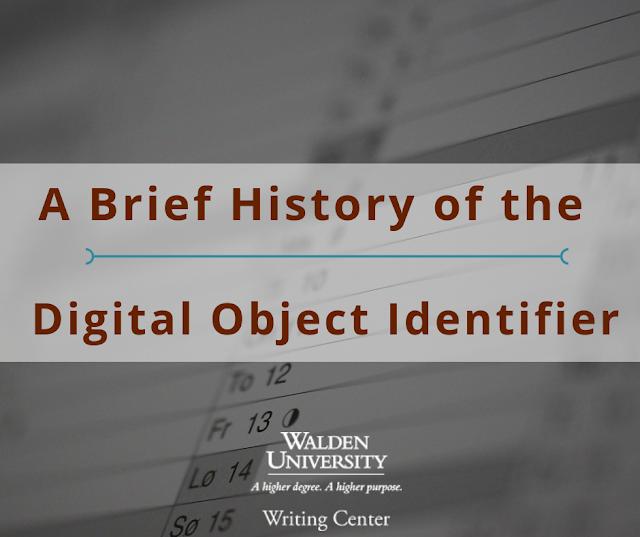 A brief history of the DOI