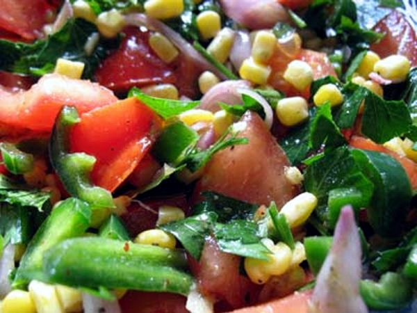 Indian-Style Tomato and Corn Salad