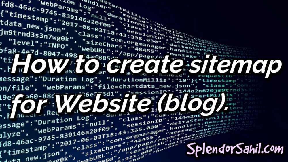 how to create xml sitemap for website