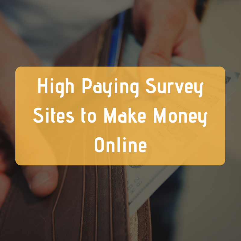High paying survey sites