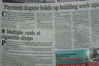 imagen de periódico borrosa