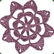 Motivo floral a  crochet