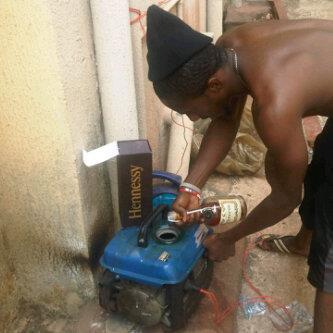 Lol... See 9ja guy use Hennessy As Fuel.
