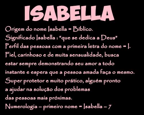Significado do nome isabella
