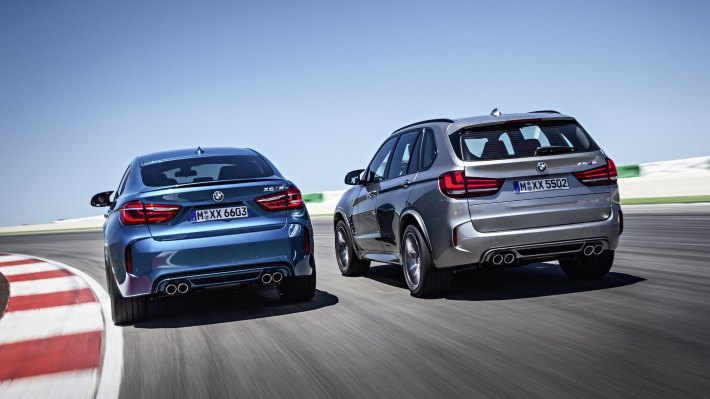 Wallpaper 2: BMW X5 M and BMW X6 M Rear Side