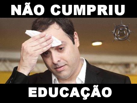 O QUE PAULO CÂMARA NÃO CUMPRIU NA EDUCAÇÃO