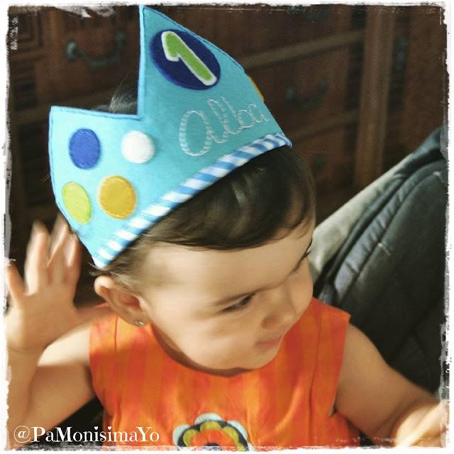 corona cumpleaños alba @pamonisimayo