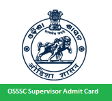 OSSSC Supervisor Admit Card