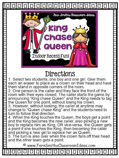 https://www.dropbox.com/s/48yr6fug6ki8qwz/Fern-Smiths-Classroom-Ideas-King-Chase-Queen-Indoor-Recess-Fun-Directions.pdf