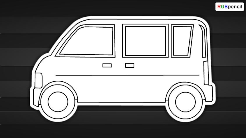How To Draw Van For Kids Draw Van Step By Step Van Easy Drawing