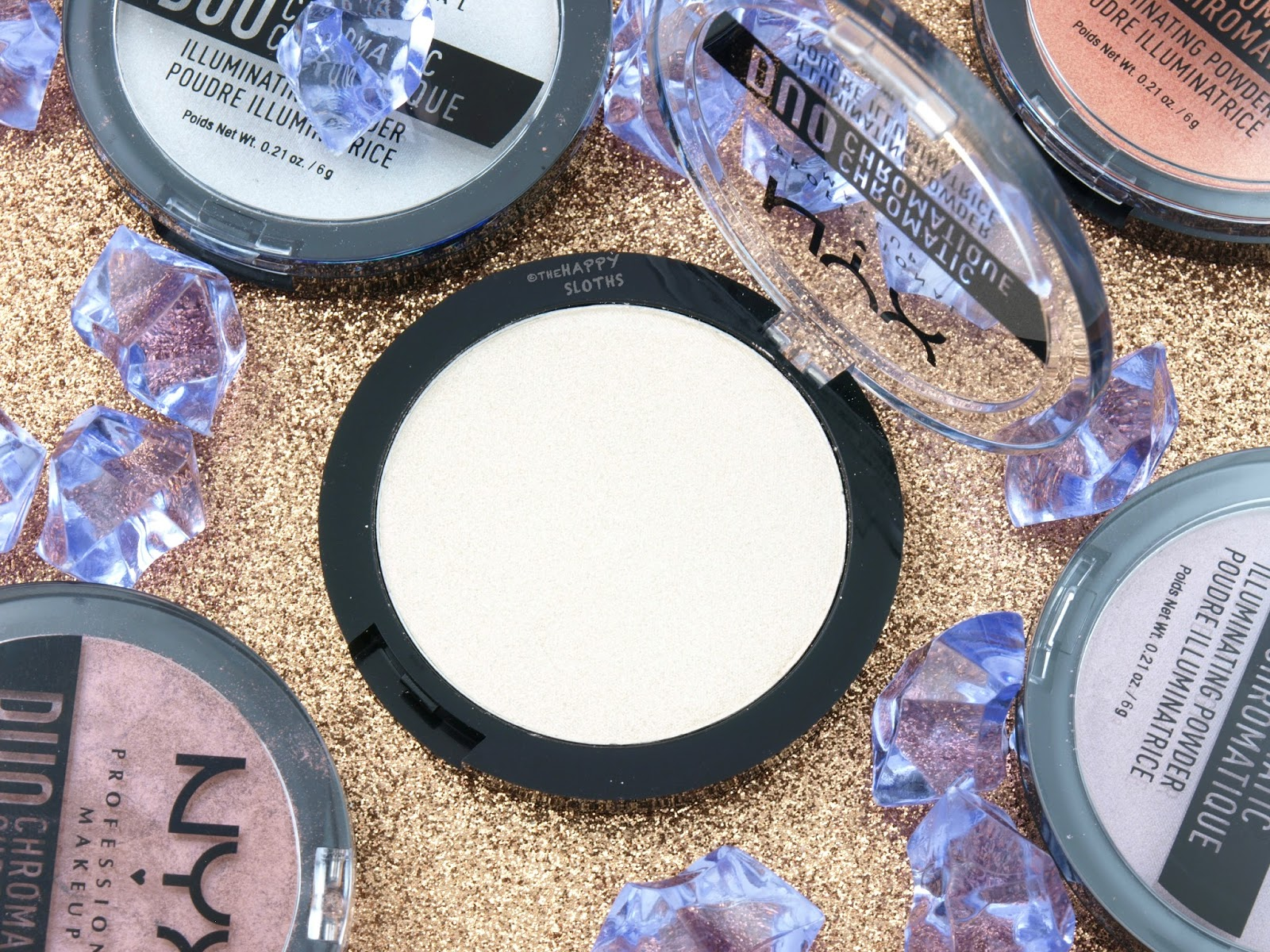 "NYX Duo Chromatic Illuminating Powder in ""02 Lavender Steel"": Review and Swatches"