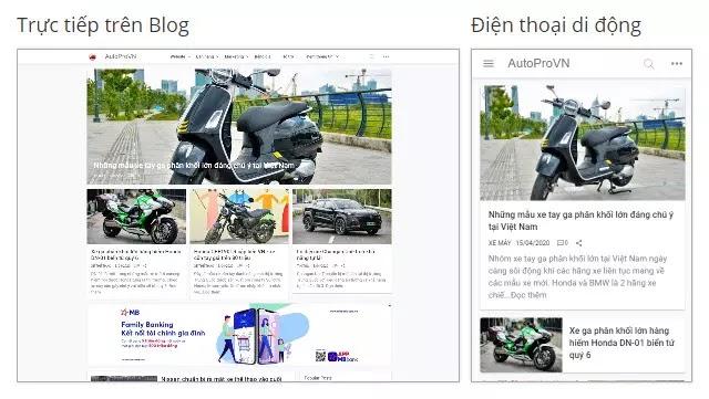 Theme blogspot tín tức Ô tô, xe máy đẹp chuẩn seo