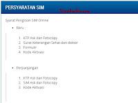 Pendaftaran SIM Online