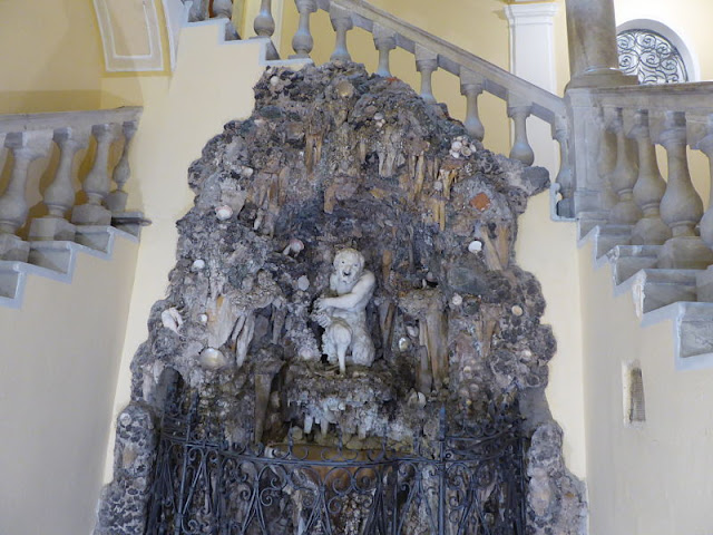 ninfeo con satiro nel palazzo Giorgio Spinola a Genova