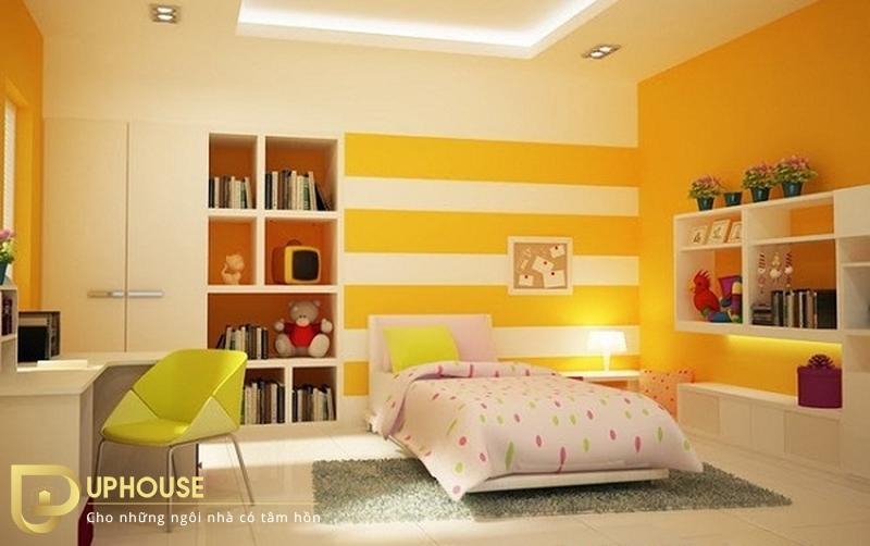 Phòng ngủ màu vàng nhạt 07