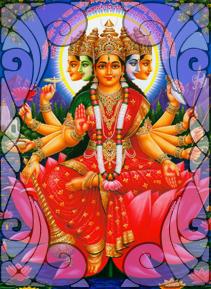 Gayatri - Ilustração da Deusa