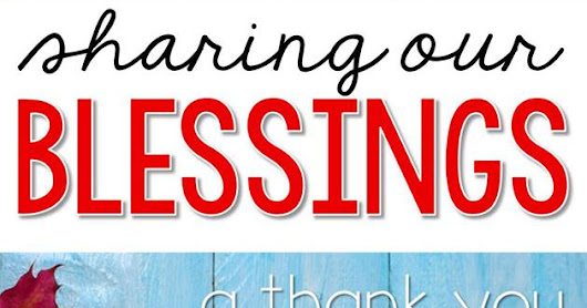 Sharing Our Blessings - A Thank You Blog Hop