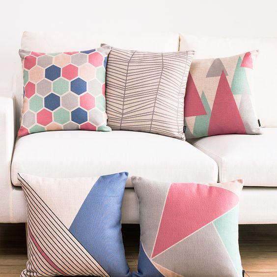 Observa y decora mi truco para combinar cojines - Tipos de telas para sofas ...