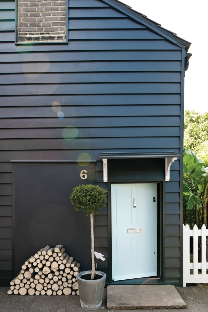 little mid century modern house on the prairie house colour trial 1 fail. Black Bedroom Furniture Sets. Home Design Ideas