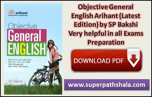 Objective General English SP Bakshi Pdf Download Low Size