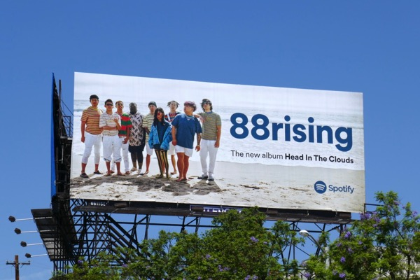 88rising Head in clouds Spotify billboard