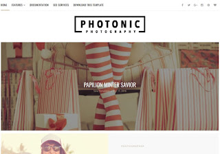 Demonstração Theme Photonic Clean Responsivo para Blogs 2018