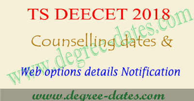 TS Deecet counselling dates 2018 web options entry telangana